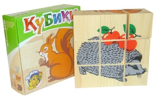 Обучающая игра Кубики Животные леса
