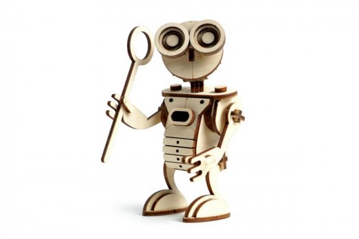 Игрушка из дерева робот
